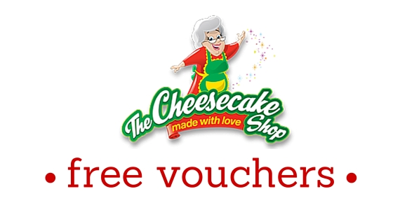 Free $5 Voucher for The Cheesecake Shop