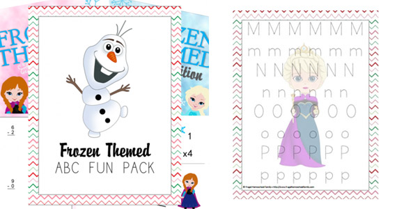 Free Frozen Themed Fun Pack