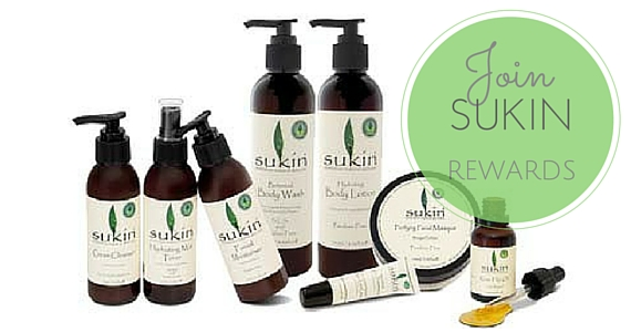 Sign Up for Sukin Rewards
