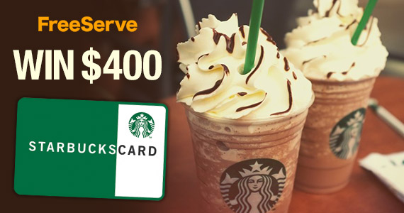Win a $400 Starbucks Gift Card