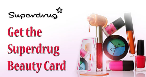 Get the Superdrug Beauty Card