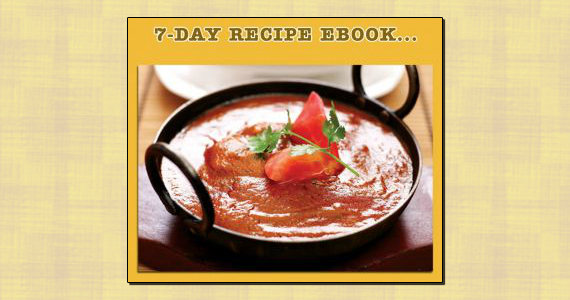 Free 7-Day Recipe EBook for Curry