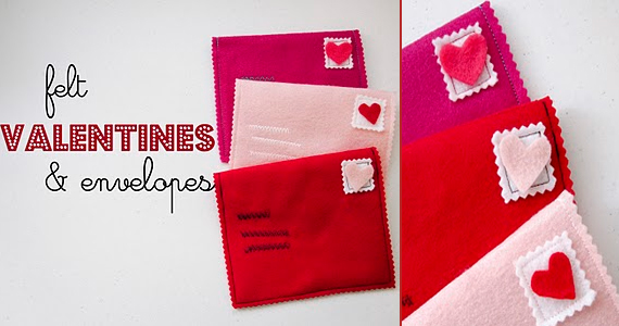 Felt Valentines & Envelopes Tutorial