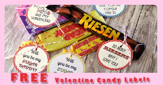 Free Valentine Candy Labels