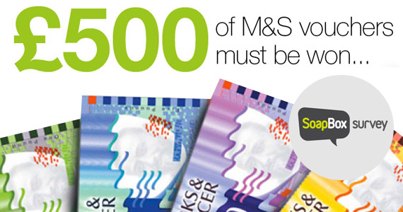 £500 in M&S Vouchers to Be Won