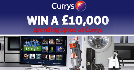 Win a £10,000 Currys Shopping Spree