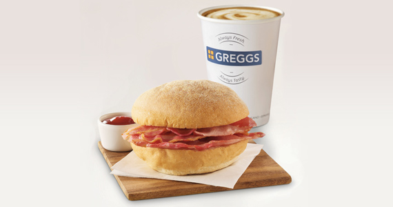 Sign Up with Greggs to Get Free Breakfast & Coffee