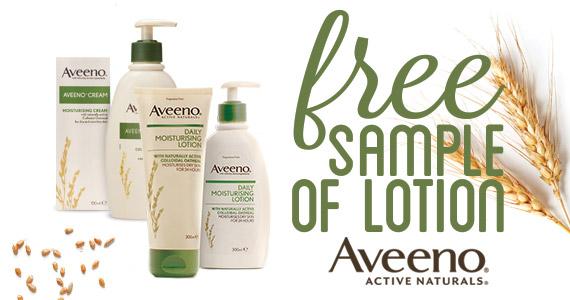 Free Sample of Aveeno Lotion