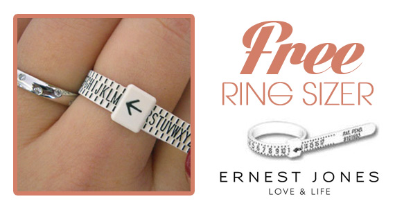 Free Ring Sizer from Ernest Jones