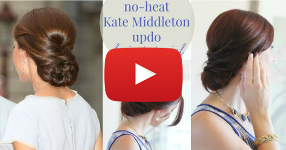 Kate Middleton Updo Tutorial