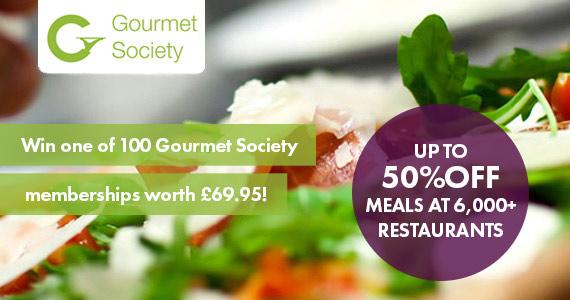 Win 1 of 100 Gourmet Society Memberships