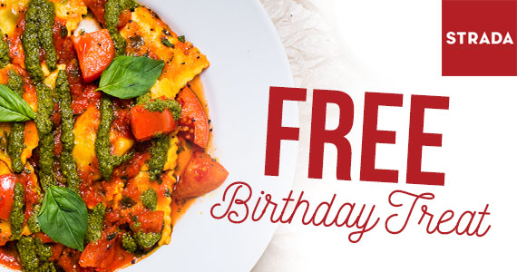 Free Birthday Treat from Strada