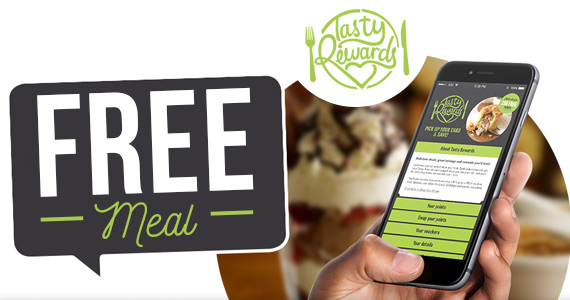 Free Meal with Tasty Rewards