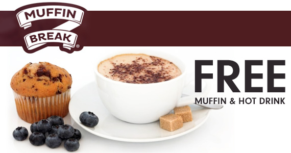 Free Muffin & Hot Drink at Muffin Break