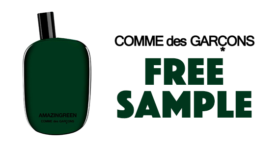 Free Sample of Amazingreen from Comme des Garcons