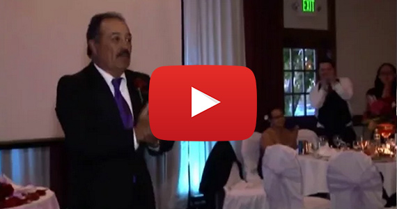 Dad's Wedding Surprise Gives Me Goose Bumps