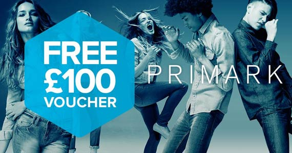 Get a Free £100 Voucher to Spend at Primark