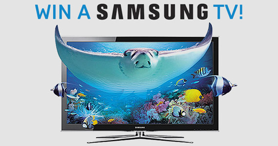 Get in to Win a 55-Inch Samsung TV