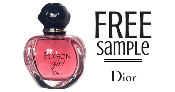 Free Sample of New Dior Fragrance