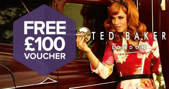 Get a £100 Voucher to Spend at Ted Baker