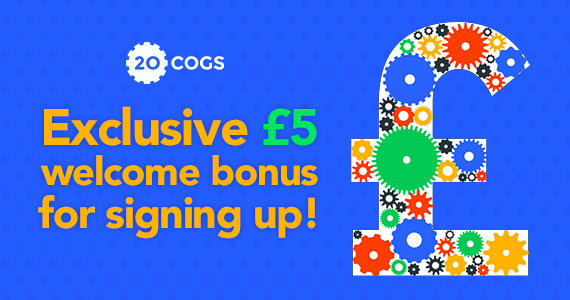 Join 20Cogs to Get a £5 Bonus & Earn More Money