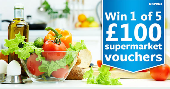5 Supermarket Vouchers Worth £100 to Give Away