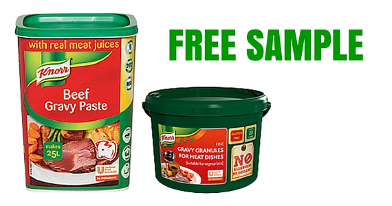 Free Samples of Knorr Gravy Products