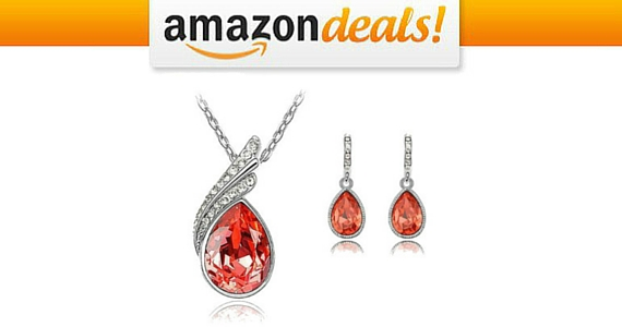 Get this Red Crystal Jewellery Set for Just £29.99
