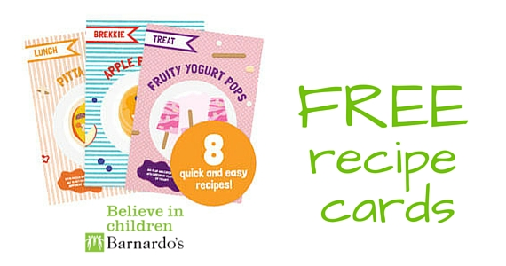 Free Barnardos Recipe Cards