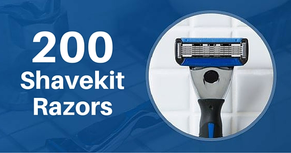 200 Free Shavekit Razors to Give Away