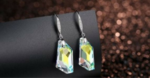 GoSparkling Aurora Borealis Crystal Earrings for £24.99