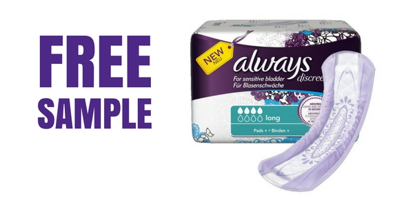 Free Sample of Always Discreet