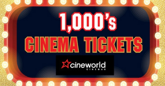 Free Cineworld Cinema Tickets to Give Away