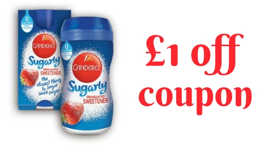 Save £1 off the Purchase of Canderel Sugarly