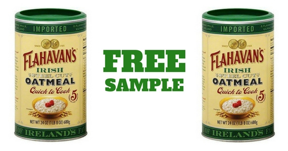 Free Flahavan's Irish Steel Cut Oatmeal