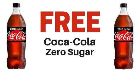 Free Coca-Cola Zero Sugar from CheckoutSmart