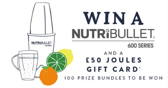 100 Nutribullet Prize Packs to Be Won
