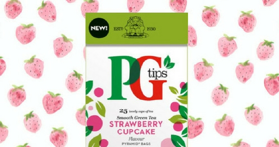 Try PG Tips Strawberry Cupcake Green Tea