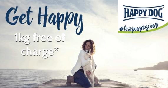 Free 1kg Bag of Happy Dog Food