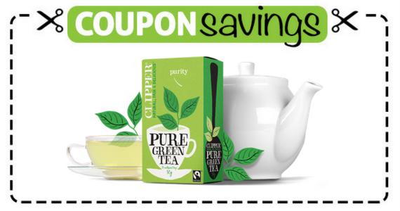 Save 50p off Clipper Pure Green Tea