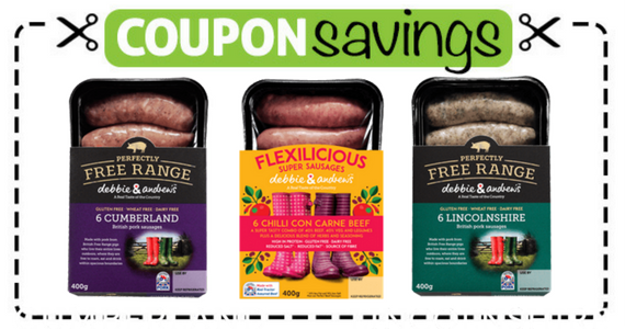 Save £1.50 off any 2 Packs of Debbie & Andrew's