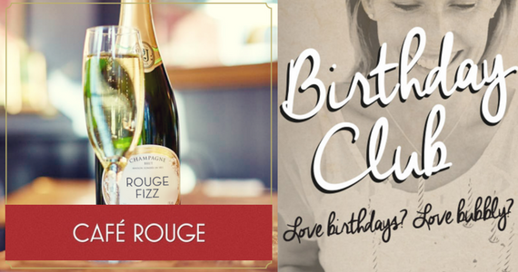 Free Bottle of Bubbly From Cafe Rouge