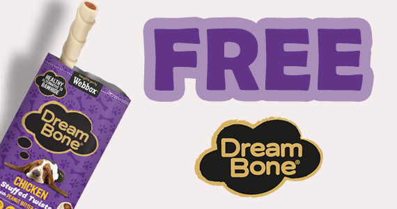 Free DreamBone Dog Treat