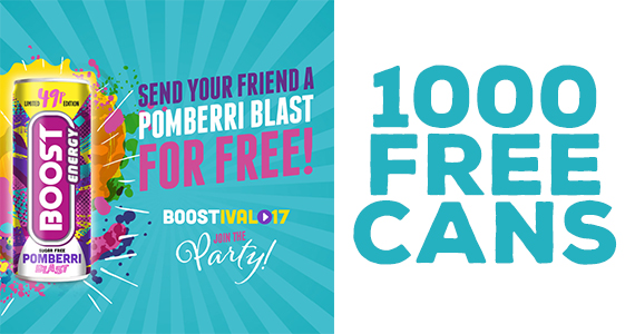 Send a Friend a Free Boost Energy Drink