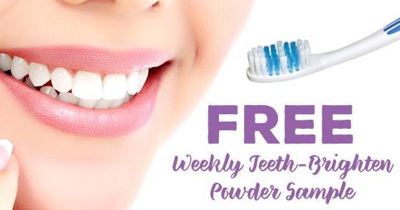 Free Teeth-Brighten Powder Sample