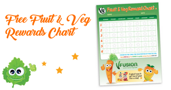 Free Fruit & Veggie Reward Chart