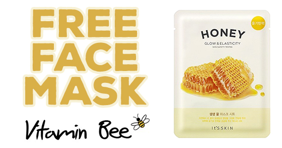 Free Vitamin Bee Sheet Mask