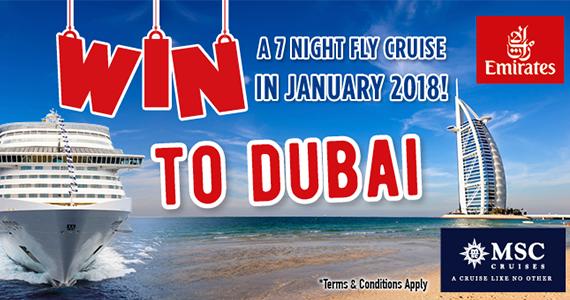 Win A 7 Night Fly Cruise To Dubai!