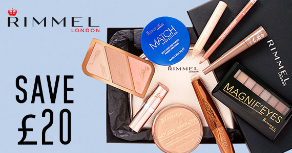Save £20 off Rimmel Look Book Box