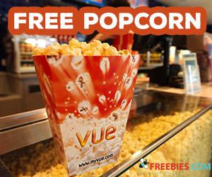 Free Popcorn at Vue Cinema